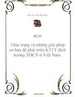 Đề tài: Thực trạng và những giải pháp cơ bản để phát triển KTTT định hướng XHCN ở Việt Nam. potx