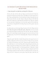 SỰ LÃNH ĐẠO CỦA ĐẢNG ĐỐI VỚI NHÀ NƯỚC PHÁP QUYỀN XÃ HỘI CHỦ NGHĨA pptx