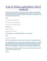 Unit 41. Prefixes and Suffixes (Tiền tố và hậu tố) docx