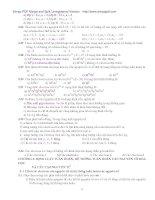 Giáo trình bài tập hóa đại cương (Phần 2) pdf