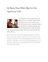 Sử Dụng Thực Phẩm Hợp Lý Cho Người Cao Tuổi pdf