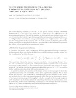 POWER SERIES TECHNIQUES FOR A SPECIAL SCHRÖDINGER OPERATOR AND RELATED DIFFERENCE EQUATIONS MORITZ docx
