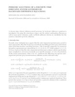 PERIODIC SOLUTIONS OF A DISCRETE-TIME DIFFUSIVE SYSTEM GOVERNED BY BACKWARD DIFFERENCE pdf