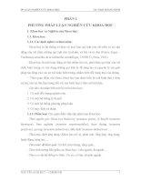 PHƯƠNG PHÁP LUẬN NGHIÊN CỨU KHOA HỌC ỨNG DỤNG THUẬT GIẢI DI TRUYỀN XẾP THỜI KHOÁ BIỂU CHO CÁC TRƯỜNG ĐẠI HỌC