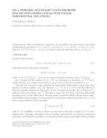 ON A PERIODIC BOUNDARY VALUE PROBLEM FOR SECOND-ORDER LINEAR FUNCTIONAL DIFFERENTIAL EQUATIONS S. pptx