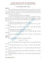 Tuyển chọn các bài tập toán ôn thi thpt Quốc Gia