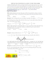 bài tập sóng cơ có giải chi tiết
