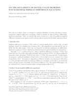 ON THE SOLVABILITY OF INITIAL-VALUE PROBLEMS FOR NONLINEAR IMPLICIT DIFFERENCE EQUATIONS PHAM KY ANH pdf
