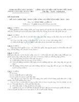đề và đáp án chọn học sinh giỏi môn sinh học lớp 9 phòng châu thành năm 2011