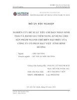 Nghiên cứu đề xuất tiêu chí dán nhãn sinh thái và đánh giá tiềm năng áp dụng cho sản phẩm ngành chế biến hạt điều của Công ty cổ phần Hạt Việt tỉnh Bình Dương