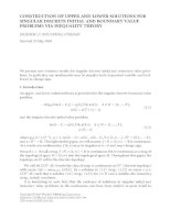 CONSTRUCTION OF UPPER AND LOWER SOLUTIONS FOR SINGULAR DISCRETE INITIAL AND BOUNDARY VALUE PROBLEMS potx