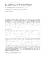 BOUNDARY VALUE PROBLEMS FOR ANALYTIC FUNCTIONS IN THE CLASS OF CAUCHY-TYPE INTEGRALS WITH DENSITY IN pot