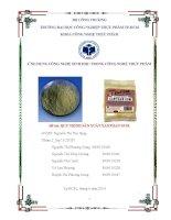 Đồ án môn học Ứng dụng công nghệ sinh học trong quy trình sản xuất XanThan Gum