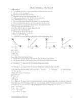 trắc nghiệm vật lý 10 đầy đủ