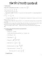 tóm tắt lý thuyết vật lý theo chuyên đề