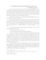 TƯ TƯỞNG HỒ CHÍ MINH VỀ TÔN GIÁO Ở VIỆT NAM