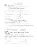 các chuyên đề  vật lý lớp 12