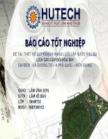 Thiết kế quy hoạch mạng lưới cấp nước khu du lịch cao cấp Đồi Hoa Sim địa điểm xã Dương Tơ huyện Phú Quốc tỉnh Kiên Giang.ppt