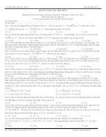 đề kiểm tra cấp tốc bài tập vl trọng tâm trước ngày thi
