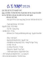 Ôn thi ngữ văn THPT 2014