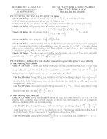 Đề và đáp án môn toán khối A năm 2012