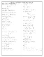phương pháp giải pt lôgarit và pt mũ