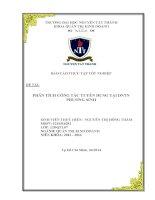 báo cáo thực tập tốt nghiệp phân tích công tác tuyển dụng tại dntn phương sinh