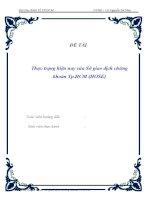 đề tài ' thực trạng hiện nay của sở giao dịch chứng khoán tp.hcm (hose) '