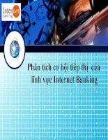 Phân tích cơ hội tiếp thị của lĩnh vực internet banking