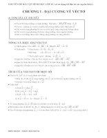 CHUYÊN ĐỀ BÀI TẬP HÌNH HỌC LỚP 10 ( có sử dụng tài liệu từ các nguồn khác) potx