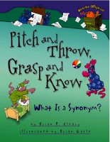 Words Are Categorical Pitch and Throw, Grasp and Know: What Is a Synonym pdf