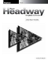 New Headway Beginner Test Book: Beginner Tests New English Course Julia Starr Keddle pptx
