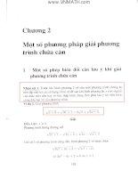 Phương pháp giải phương trình chứa căn