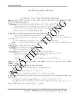 Phân loại và phương pháp giải bài tập Vật lớp 12 ppt