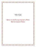 tiểu luận  quản trị chuỗi cung ứng tại ty pizza hut và general motor