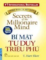 Secrets of the Millionaire Mind – BÍ MẬT TƯ DUY TRIỆU PHÚ pptx