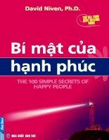 THE 100 SIMPLE SECRETS OF HAPPY PEOPLE - BÍ MẬT CỦA HẠNH PHÚC potx