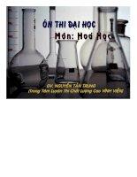 bài giảng ôn thi đại học môn hóa học
