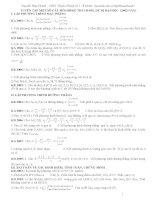 Một số câu hỏi hình học không gian trong đề thi đại học