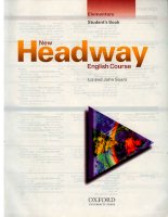 New Headway Elementary Student''''s Book: Elementary Student''''s Book New English Courses pdf