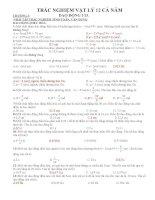 Ôn tập vật lý 12 hay
