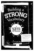 Building a STRONG Vocabulary : A 12 Week plan for students docx
