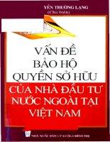 Vấn đề bảo hộ quyền sở hữu của nhà đầu tư nước ngoài tại Việt Nam potx