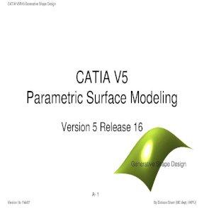 CATIA V5 Parametric Surface Modeling potx