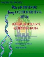 Phần 5: Di truyền học, chương 1: cơ chế di truyền và biến dị - trường đại học vinh- khoa sinh học docx