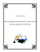 LUẬN VĂN: Doanh nghiệp kinh doanh bảo hiểm nhân thọ theo pháp luật Việt Nam pptx