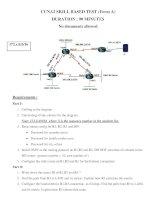 CCNA2 SKILL BASED EXAMINATION - Number 2 potx