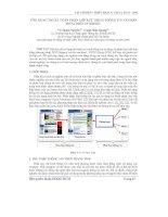 Báo cáo khoa học: Ứng dụng thuật toán phân lớp rút trích thông tin văn bản FSVM trên internet docx