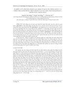 Báo cáo khoa học: Nghiên cứu phương pháp xác định tỉ lệ nước đóng băng và nhiệt độ lạnh đông thích hợp của vật liệu ẩm ở giai đoạn 1 trong sấy thăng hoa docx