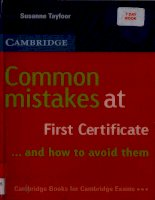 Common mistakes at first certifficcate ... and how to avoid them - Susanne Tayfoor potx